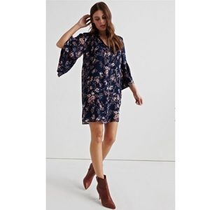 Lucky Brand Printed Bell Sleeve Dress NWT!